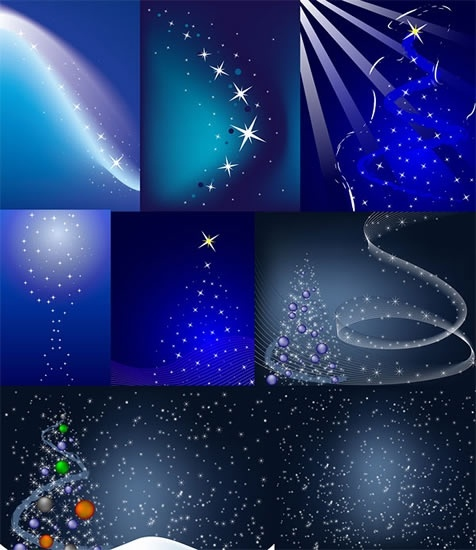 christmas background templates modern twinkling dynamic stars decor