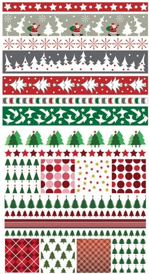 christmas pattern templates colorful classical repeating decor