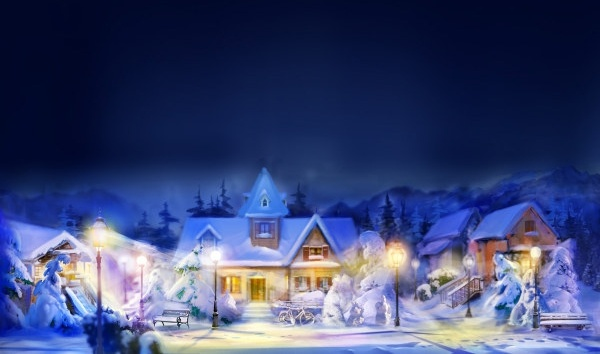 christmas night view highdefinition picture