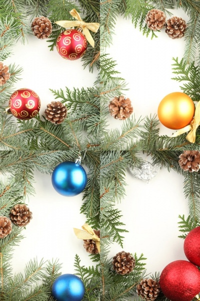 christmas ornaments border hd pictures
