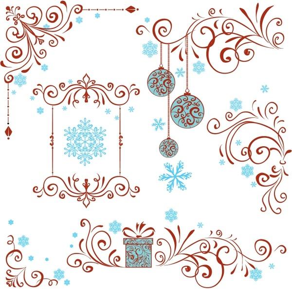 Christmas Ornate Swirl