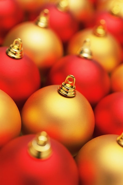 christmas red golden ball highdefinition picture