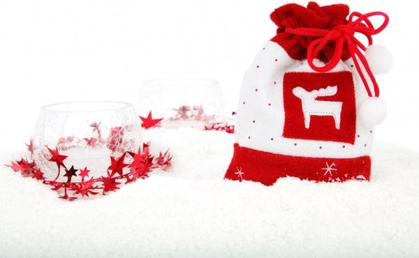 christmas sack with decoration