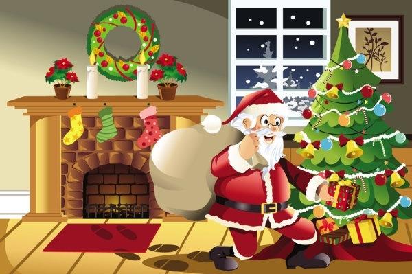 christmas scene illustration 02 vector