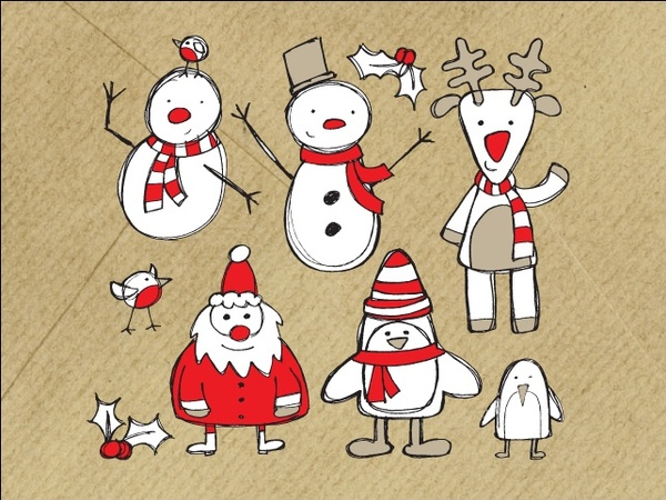 Christmas Sketches.Christmas Sketches Free Vector In Encapsulated Postscript