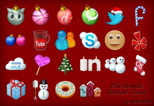 Christmas Social Icons icons pack