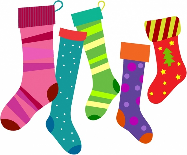 Christmas Stockings Free Vector In Adobe Illustrator Ai Ai Encapsulated Postscript Eps Eps Format For Free Download 899 11kb