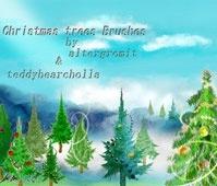 Christmas tree brushes