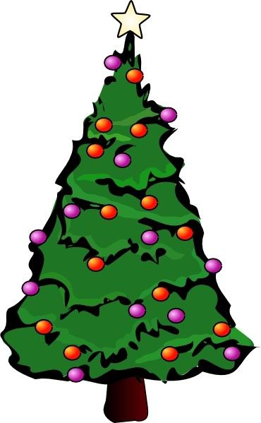 large christmas tree clip art free - photo #23