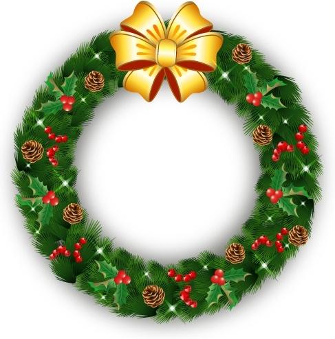 Christmas Wreath Images Free.Christmas Wreath Free Vector In Adobe Illustrator Ai Ai