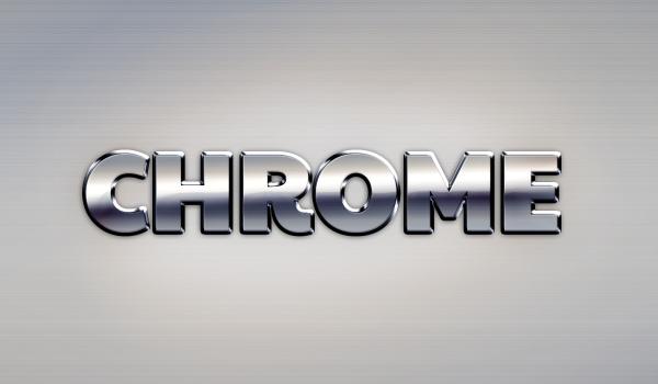 chrome text effect