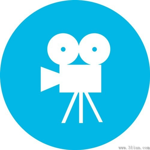 cinematography blue icons vector