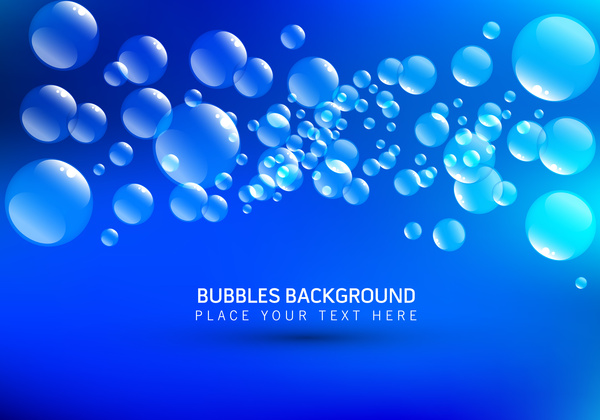 circle bubble blue background