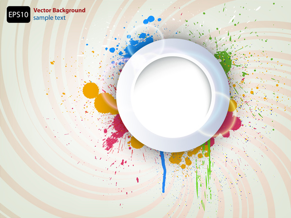 circle frame watercolor background
