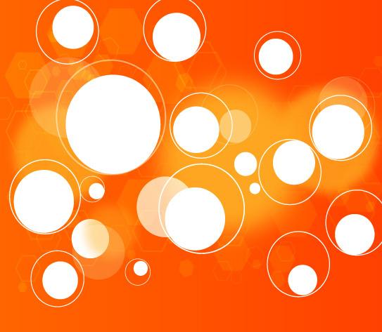 circles in orange background