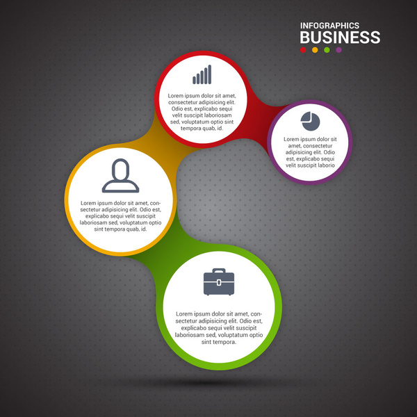 circles vector illustration of business infographic diagram