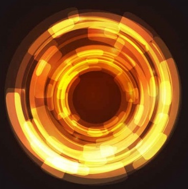 circular abstract light background vector