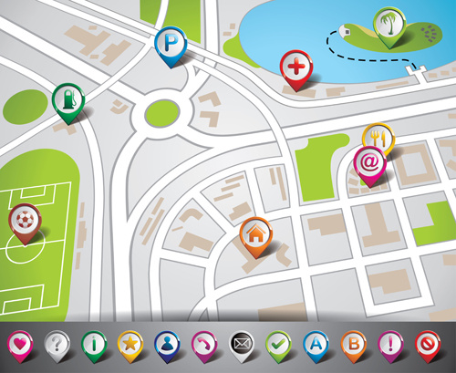 City Map Gps Vectro Free Vector In Encapsulated PostScript Eps ( .eps ) Vector Illustration