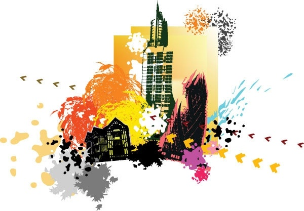 city silhouette 01 vector