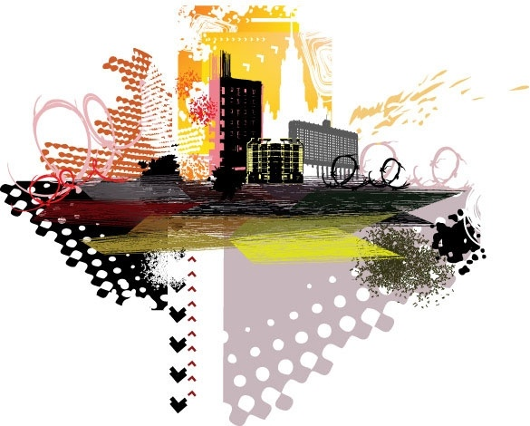 city silhouette 05 vector