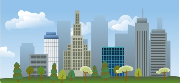 city skyline free vector in open office drawing svg svg vector