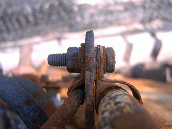 clamp iron bolt connection