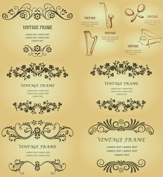 classic decorative pattern background vector