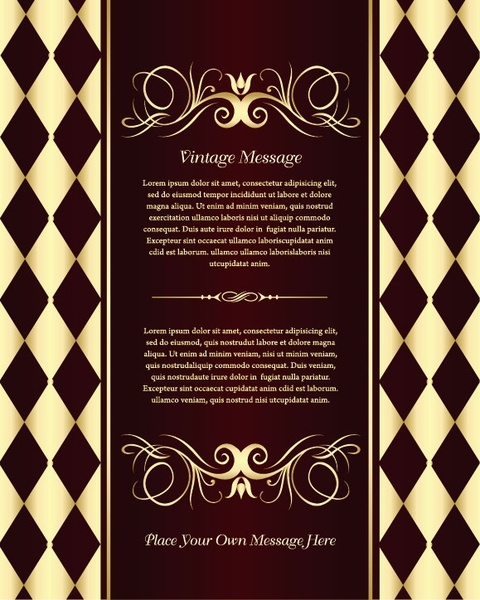 classic european pattern background 05 vector
