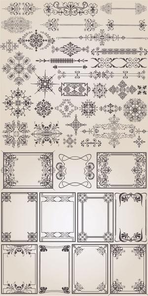 classic european pattern vector