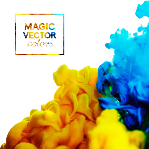 Classic ink cloud magic effects vector background Free vector in