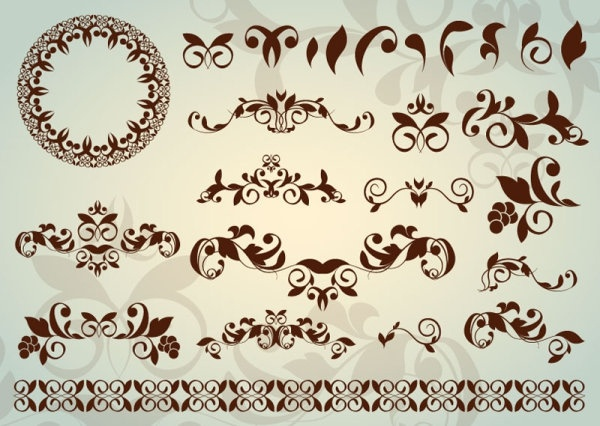 classic lace pattern 02 vector