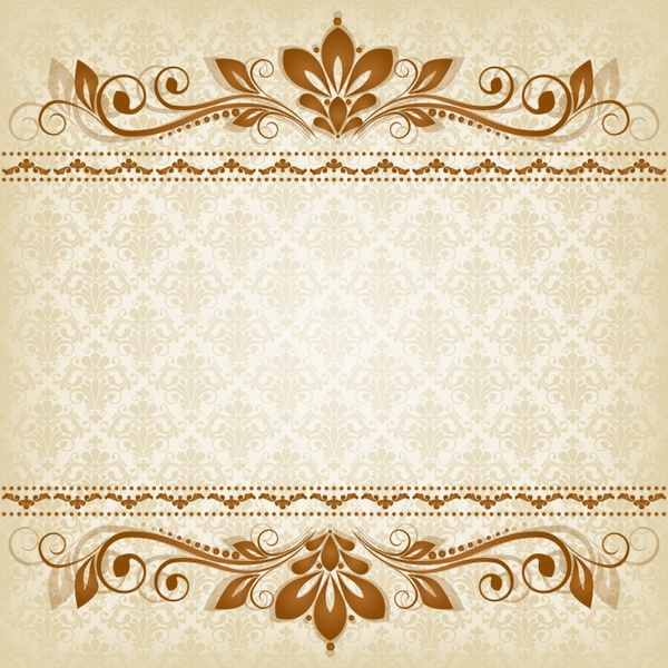 decorative pattern elegant symmetric flora bright brown design