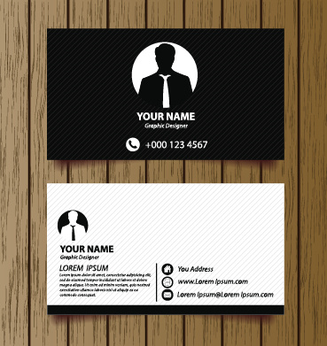 Classic modern business cards vector free vector in encapsulated classic modern business cards vector reheart Gallery