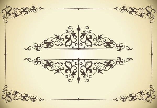 classic pattern border 04 vector