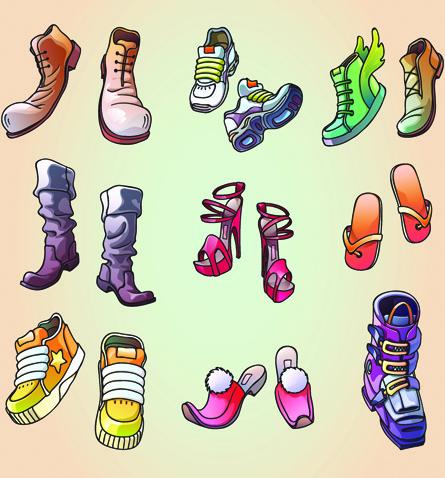 classic woman shoes design vectors