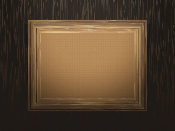92ca291d2a79 Classic wood frame 03 vector Free vector in Encapsulated PostScript ...
