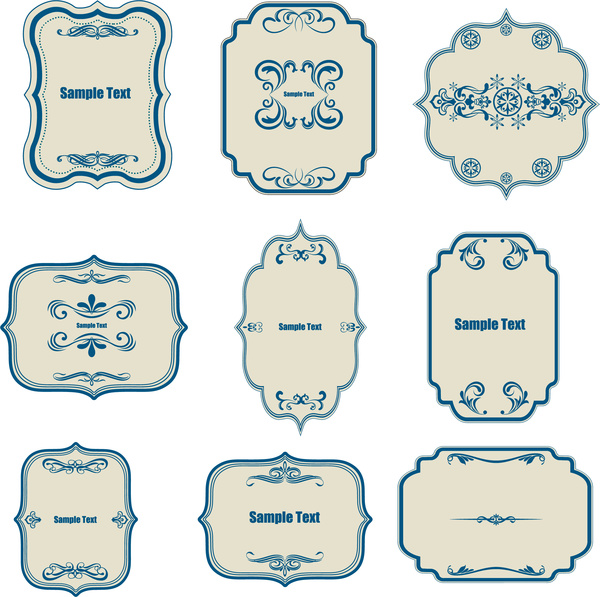 classical border templates collection free vector in adobe