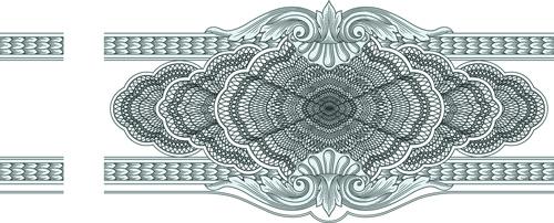 classical medieval border frame vector