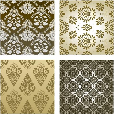 decorative pattern templates retro repeating symmetric decor