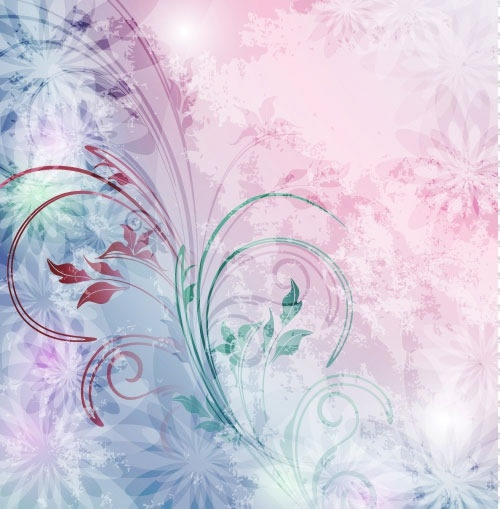 decorative background bright shiny floral decor modern design