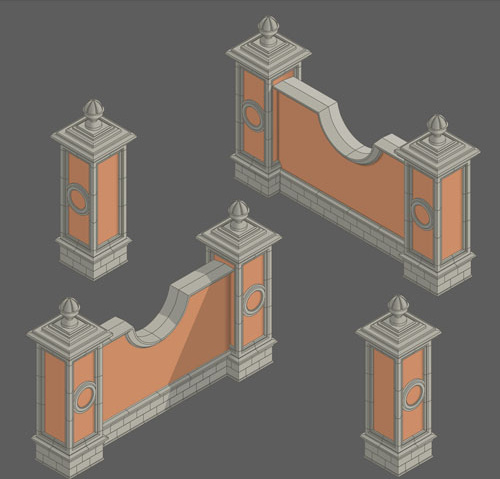 classical styles wall vector