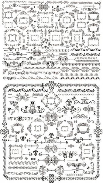 classical traditional decorative elements vector
