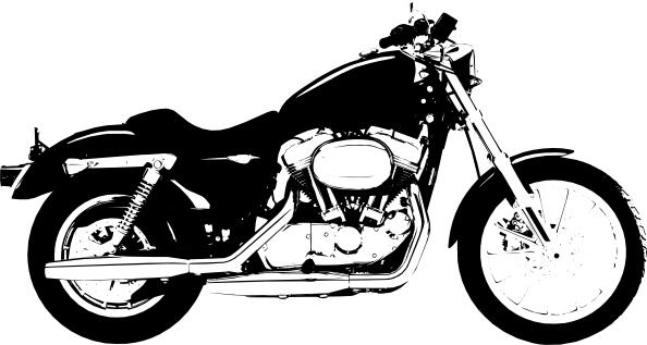 Harley davidson vector. Claydowling sportster clip art