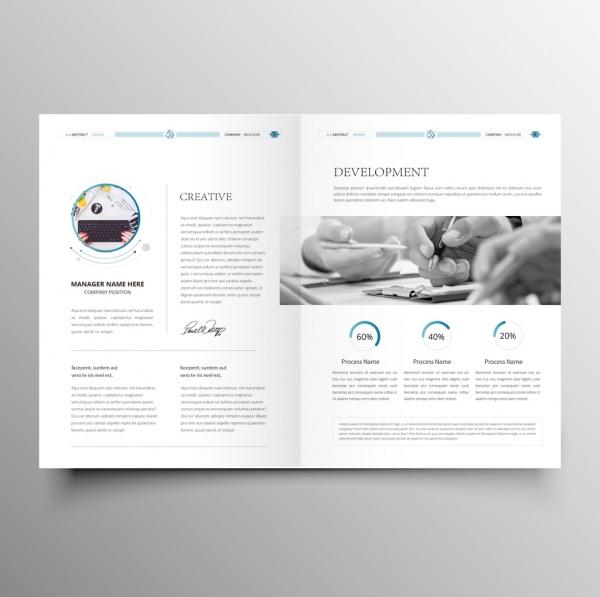 clean modern company brochure template