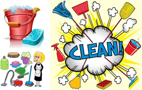 clean utensils cartoon 1 vector free vector in encapsulated