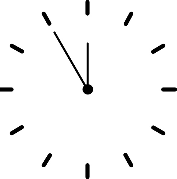 Clock clip art Free vector in Open office drawing svg (  svg
