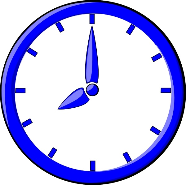 Clock Clip Art Free Vector In Open Office Drawing Svg