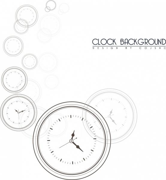 clocks background black white circles draft