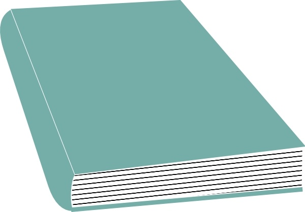 Closed Book clip art Free vector in Open office drawing svg