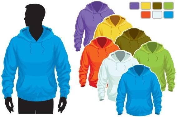clothes templates 09 vector